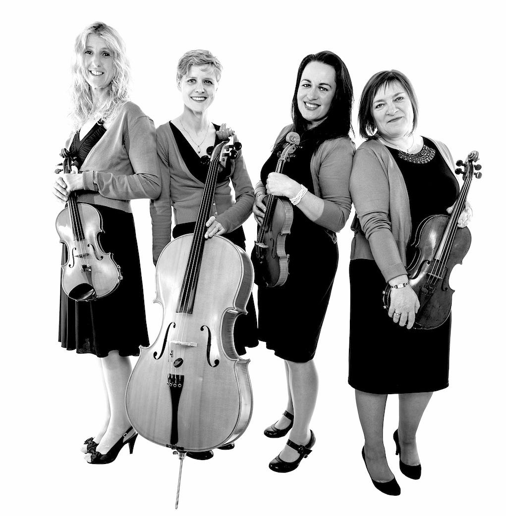 Arco String Quartet standing