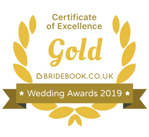 Bridebook Gold Certificate 2019